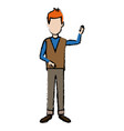 standing man character male people cartoon vector image vector image