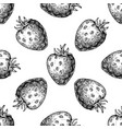 strawberry seamless pattern drawing vector image vector image