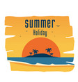 summer holiday island sunset background ima vector image