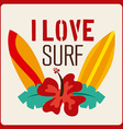 surfing design vector image vector image