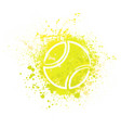 tennis grunge background vector image