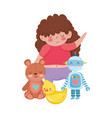 toys object for small kids to play cartoon cute vector image vector image