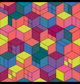 trendy seamless colorful pattern - repeatable vector image vector image