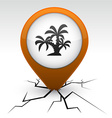 tropical orange icon in crack vector image vector image