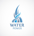 Upstream water flows logo template vector image