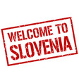welcome to slovenia stamp vector image vector image