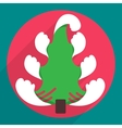 Flat christmas tree icon for web and mobile vector image