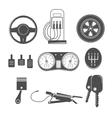 Automotive icons theme vector image