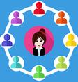 Call center customer support people cartoon design vector image