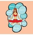 girl in the lotus asana vector image