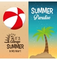 two flyers summer paradise palm and its always in vector image
