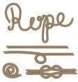 Twine rope knot brush Brown pattern string