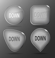 Down Glass buttons vector image