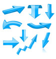 3d arrows blue signs and symbols vector image vector image