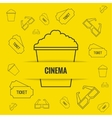 Abstract background with popcorn vector image