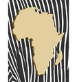 african poster with zebra pattern and map vector image