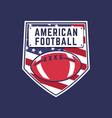 american football logo template fantasy league vector image