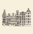 Amsterdam city architecture vintage engraved vector image