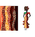 ankara clothing woman african print fabric ethnic vector image
