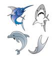 aquatic wildlife vector image vector image