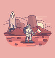 astronaut on surface planet vector image