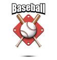 baseball logo design template vector image vector image