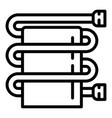 bathroom heater pipe icon outline style vector image