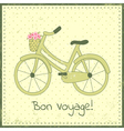 bike postcard vector image