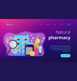 biopharmacology products concept landing page vector image vector image