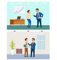 boss and employee relationship bad or good job vector image vector image