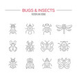 bug collection vector image vector image