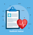 checklist healthcare medical icons vector image vector image