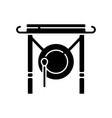 chinese gong black glyph icon vector image vector image