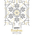 christmas and new year abstract gold line snow vector image