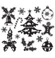 Christmas design element set vector | Price: 1 Credit (USD $1)