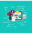 cms content management system website vector image