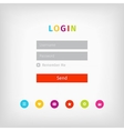 colorful login page ui vector image vector image