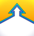 Colorful up arrow with yellow and blue paper vector image vector image