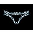 Diamond Panties vector image vector image