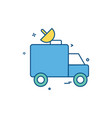 dish satellite car truck icon design vector image
