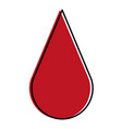 drop blood silhouette isolated icon vector image