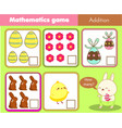 easter activity counting educational children vector image vector image