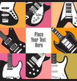 eight guitars frame this white space vector image vector image