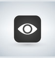 eye app icon design isolated on white vector image vector image
