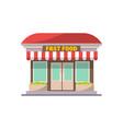 fast food shop building facade icon vector image
