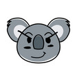 flat type of animal face expression vector image vector image