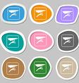 hang-gliding symbols Multicolored paper stickers vector image vector image