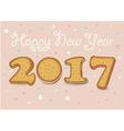 Happy New Year 2017 Sweet cookies font vector image vector image