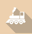 icon train with a long shadow vector image
