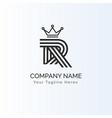 initials minimalist r logo template
